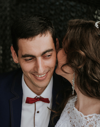 Photo of a Kiss on the Cheek by Zoriana Stakhniv