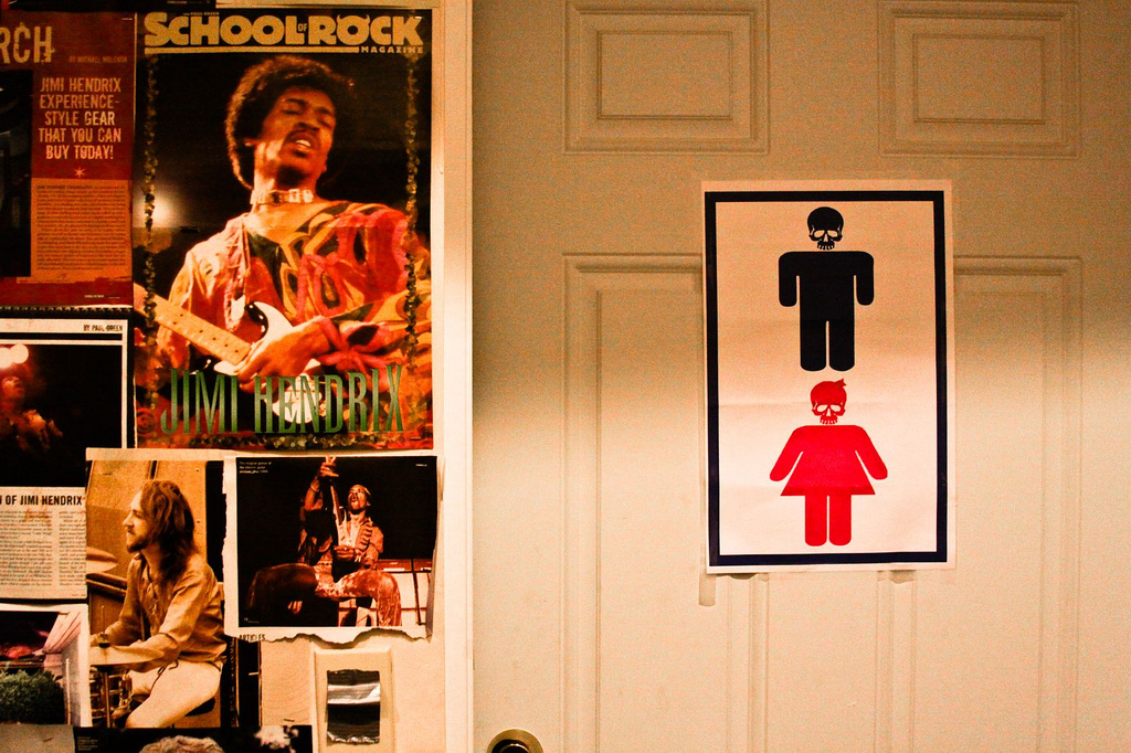Posters at School of Rock (Seattle) © Bridget Christian; Creative Commons license