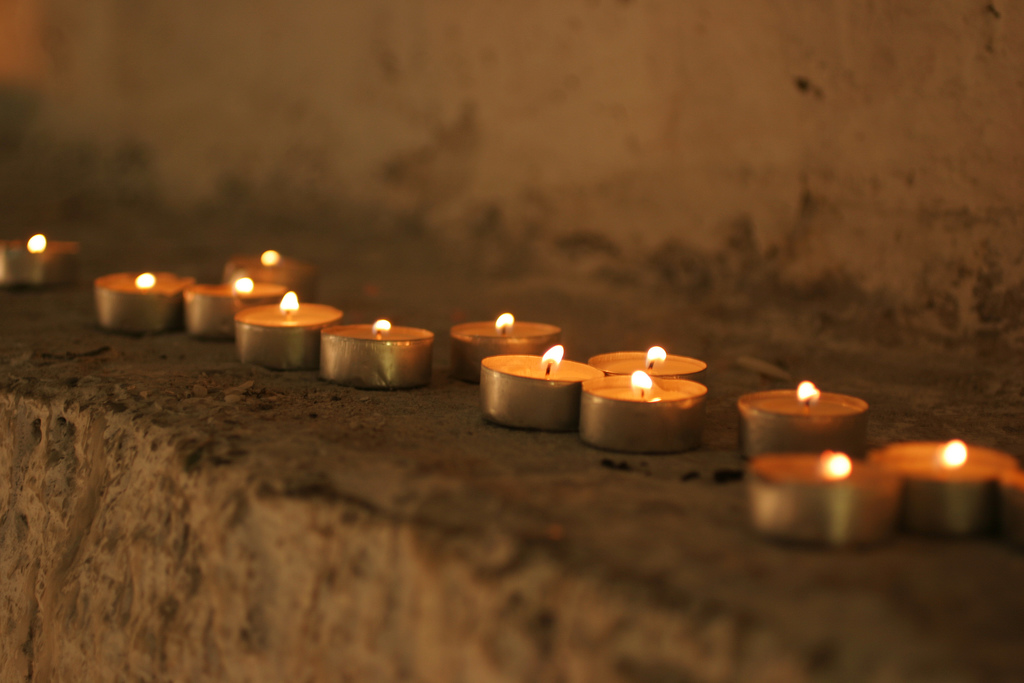 """Candles at a small Jewish altar near the Tomb of David"" © Brian Jeffery Beggerly"