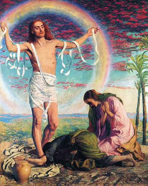 """""""Christ and the Two Marys"""" by William Holman Hunt"""