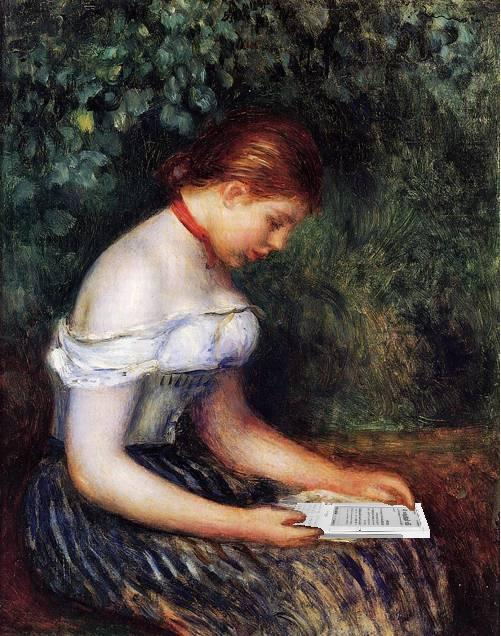 The Kindle Reader (A Young Girl Seated), after Renoir