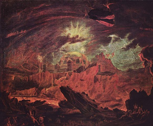 """Fallen Angels in Hell"" by John Martin"