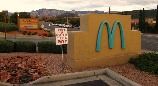 """""""The One and Only Turquoise Golden Arches, Sedona, Arizona"""" © Ken Lund"""