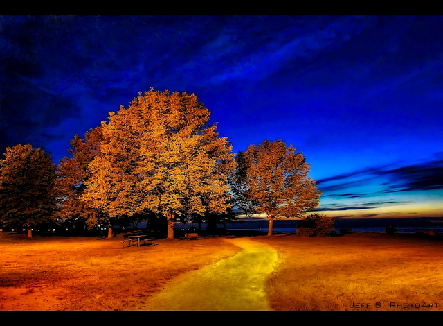 """Sunset Point Park at Night"" © Jeff S. PhotoArt; Creative Commons license"