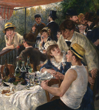 """""""Luncheon of the Boating Party"""" by Pierre-Auguste Renoir"""