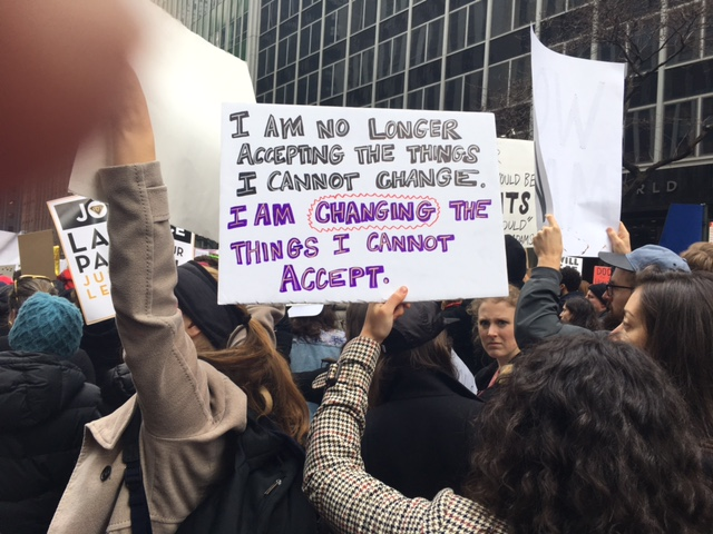 """Changing the ThingsI Cannot Accept"" (2017 New York City Women's March) © Connie Van Rheenen; used with permission"