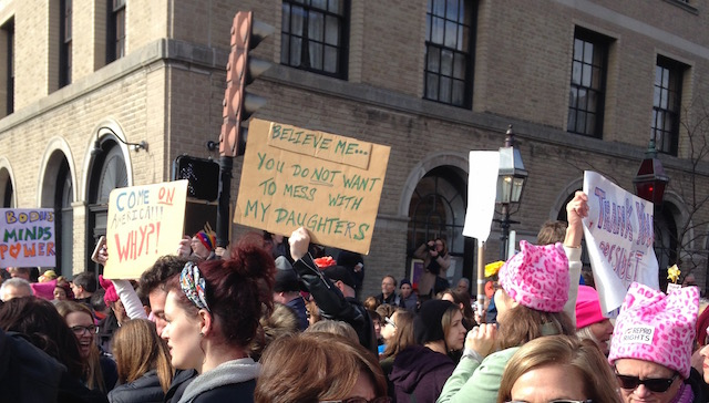 """Believe Me"" (2017 Boston Women's March) © Martha Nichols; used with permission"
