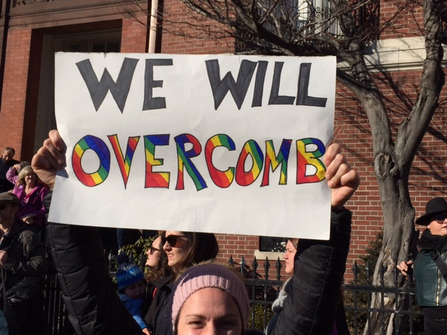 """We Will Overcomb"" (2017 Boston Women's March) © Holly Angell; used with permission"