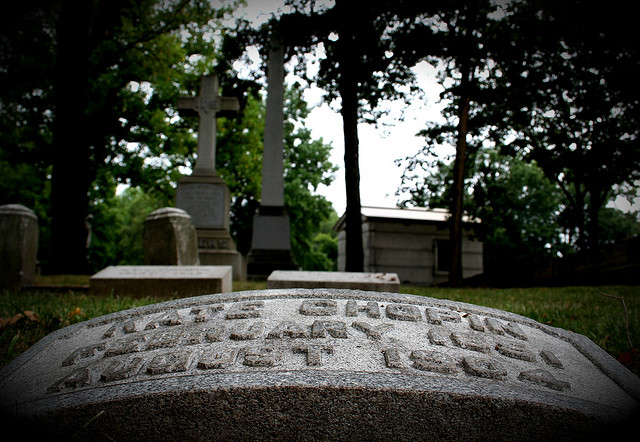 Photo of Kate Chopin's Grave Taken by Julie Diekmann © Sungazing; Creative Commons license