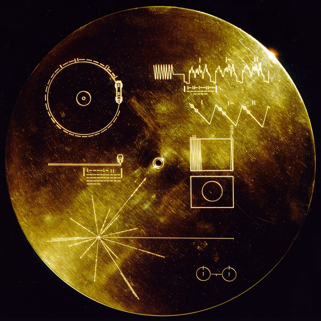 """The Sounds of Earth Record Cover"" © NASA; public domain"