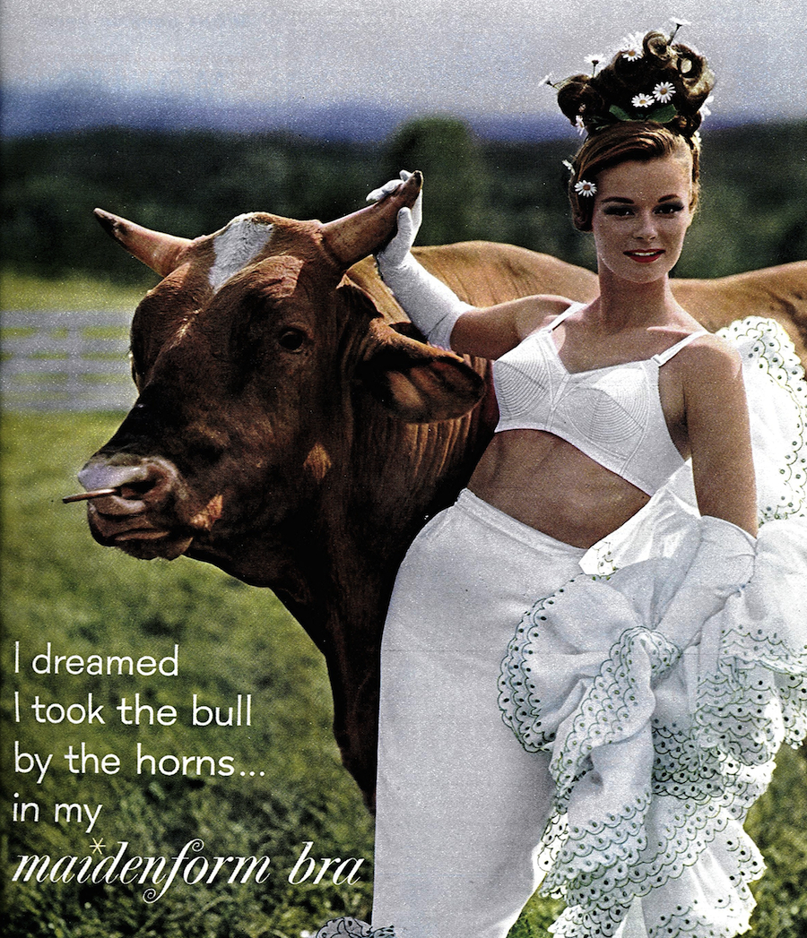 """I Dreamed I Took the Bull by the Horns in My Maidenform Bra"" ad (1962)"