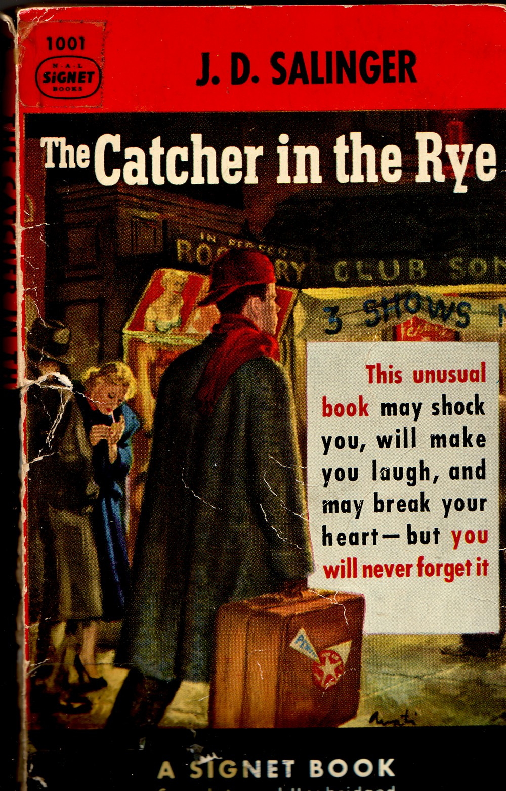 """The Cathcher ibn the Rye"" Signet book cover"