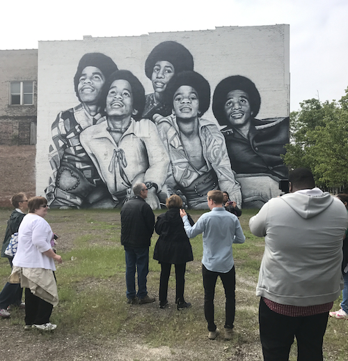 The ruins of gary indiana talking writing for Jackson 5 mural gary indiana