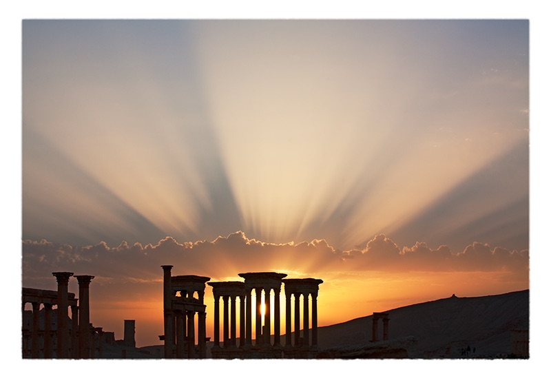 """Tetrapylon with Sunbeams"" (Palmyra, Syria, 2006) © Saïd Nuseibeh; used by permission]"