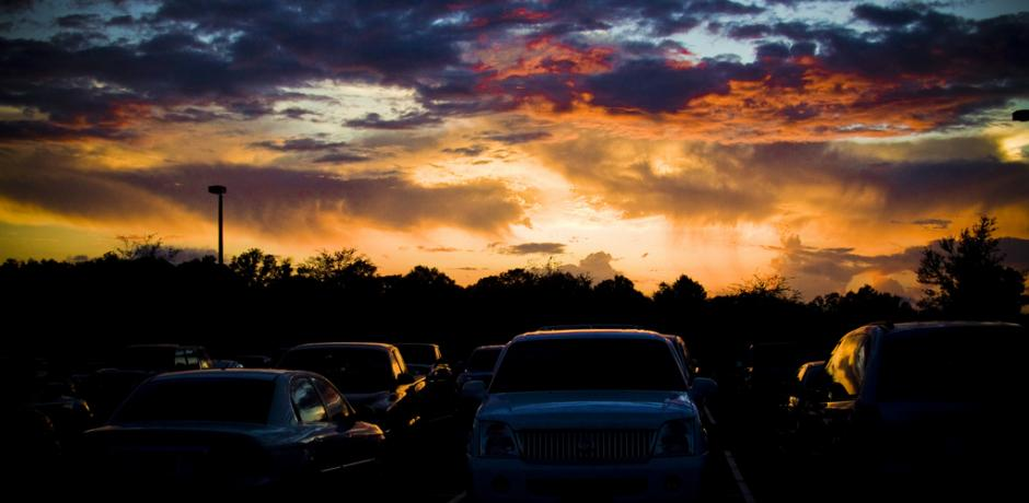 """CFCC Parking Lot"" ©  Kolin Toney; Creative Commons license"