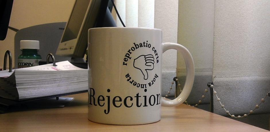 """Journal of Universal Rejection"" Coffee Mug © Tilemahos Efthimiadis; Creative Commons license"