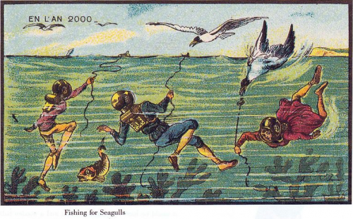 """Fishing for Seagulls,"" from France in the Year 2000"