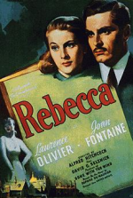 Poster for Hitchcock film of Rebecca