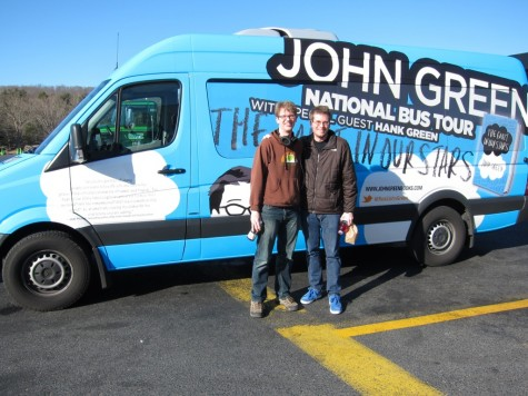 John and Hank Green on tour © Elyse Marshall