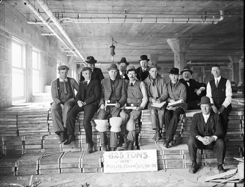 Workers in Warehouse, 1915