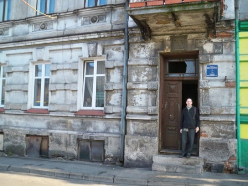 Zimler - At grandfather's house in Brzeziny, which had 7,500 Jews before the Second World War and now has zero.