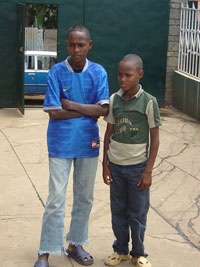 daniel and yosef at orphanage