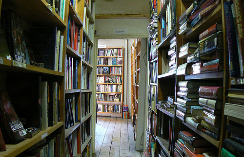 Used bookshop interior