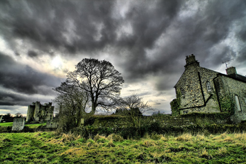 Creepy old abandoned castle in Ireland